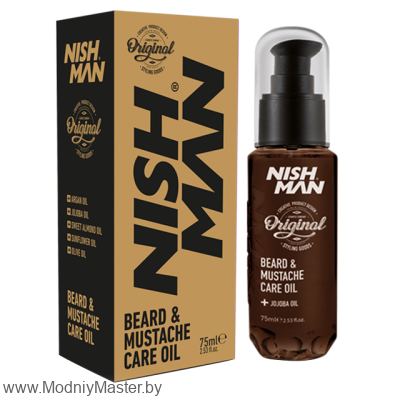 Масло для бороды и усов NISHMAN CARE OIL 75мл